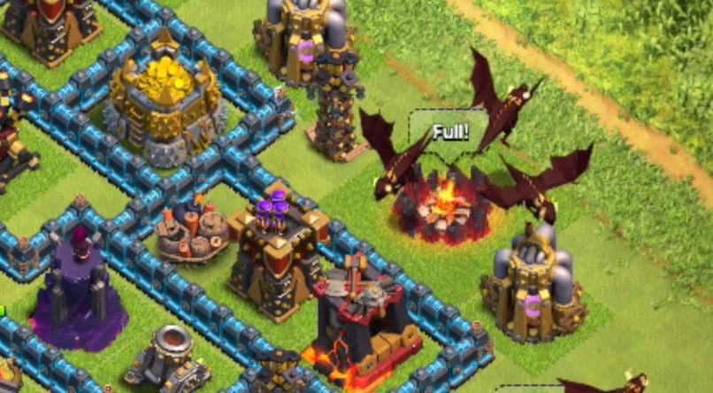 Check Out Clash Of Clans New Level 5 Dragon In Action Gamezone