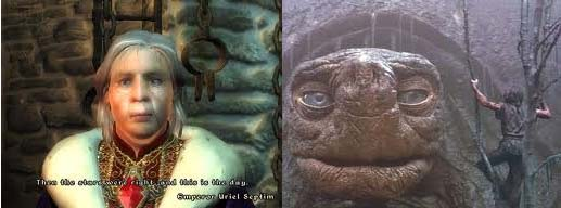 Oblivion's emperor and the Neverending Story turtle